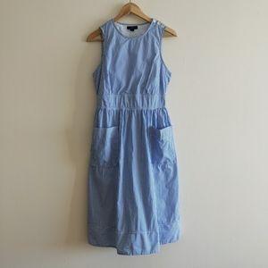 J. Crew striped cotton poplin apron dress AC493